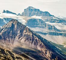 Aerial view of the Canadian Rockies in Banff by Luke Farmer
