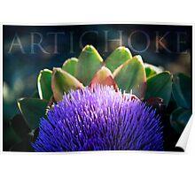 Blooming Artichoke Poster