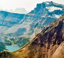 Aerial view of the Canadian Rockies by Luke Farmer