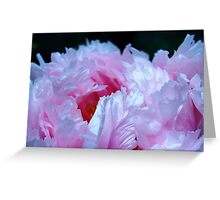 Pink Peony with Raindrops Greeting Card