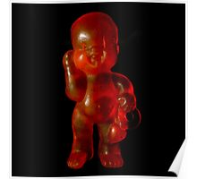 Dark Red baby Poster