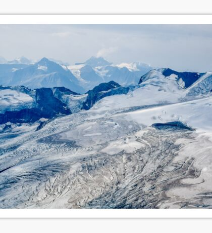 Aerial view of the Canadian Rockies Sticker