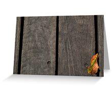 One Leaf Greeting Card