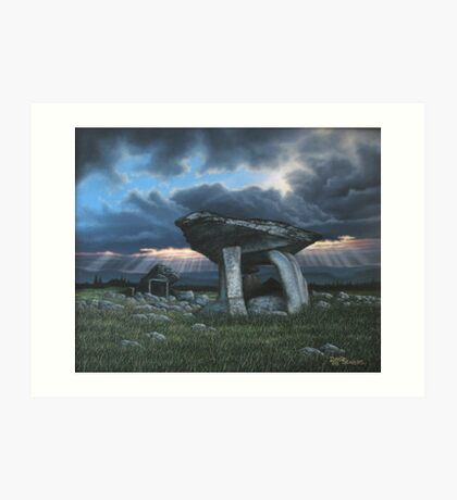 KILCLOONEY DOLMEN Co. DONEGAL  Art Print