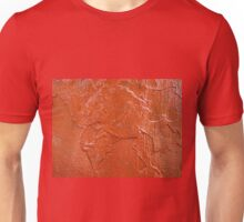 Thick and uneven layer of red paint Unisex T-Shirt