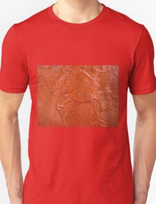 Thick and uneven layer of red paint T-Shirt