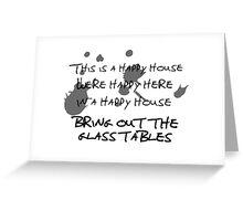 House of Balloons / Glass Table Girls Lyrics Highlight Greeting Card