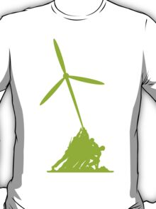 Raising the wind turbine T-Shirt