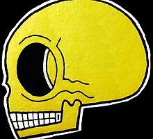 Gold Pop Skull by Vincent Poke