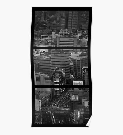 Triptych - Tokyo cityscape Poster