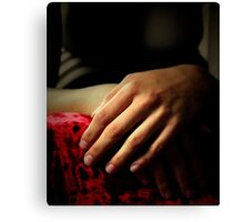 Hands in Waiting Canvas Print