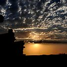 Sunset at Outback Silverton NSW Australia by Bev Woodman
