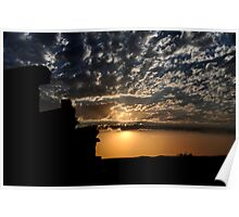 Sunset at Outback Silverton NSW Australia Poster