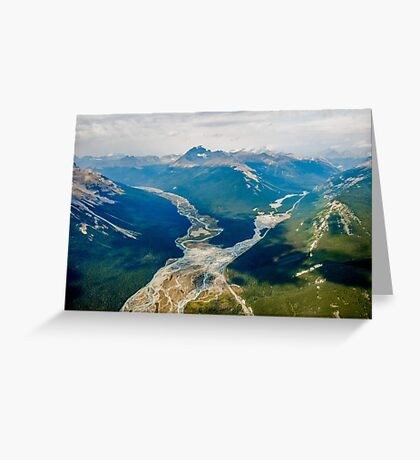 Aerial view of the Canadian Rockies in Banff Greeting Card