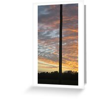one lonely power pole welcomes the sun - North Queensland, Australia Greeting Card