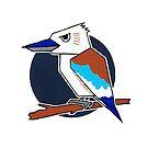 Blue Winged Kookaburra by Vincent Poke