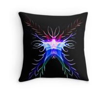Fractal Bat Throw Pillow