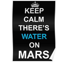 KEEP CALM THERE'S WATER ON MARS 2 Poster
