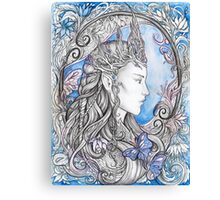 Elven Queen - blue Canvas Print
