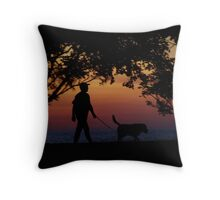 Live for Walking the Dog Throw Pillow