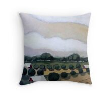 Wavy Sky Throw Pillow
