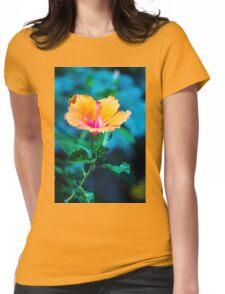 Orange flower Womens Fitted T-Shirt