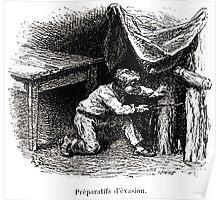 Achille Sirouy Mark Twain Les Aventures de Huck Huckleberry Finn illustration p039 Poster