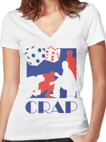 Crap Women's Fitted V-Neck T-Shirt