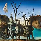Salvador Dali - Swans Reflecting Elephants by arialite