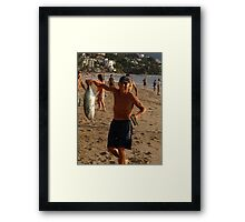 Proud, happy and successful Framed Print