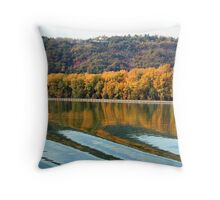 Autumn along the Rhone Throw Pillow