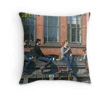 How to relax..............Sunday afternoon in Copenhagen..... Throw Pillow