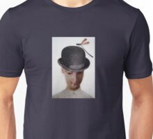 Bowler Hat & Damsel Fly Unisex T-Shirt