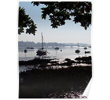 Silhouettes Over The Deben  Poster