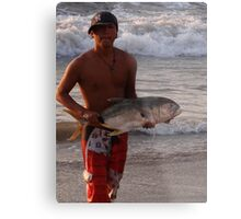 Another successful fisherman - proud and happy Metal Print