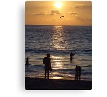 The end of a successful day Canvas Print