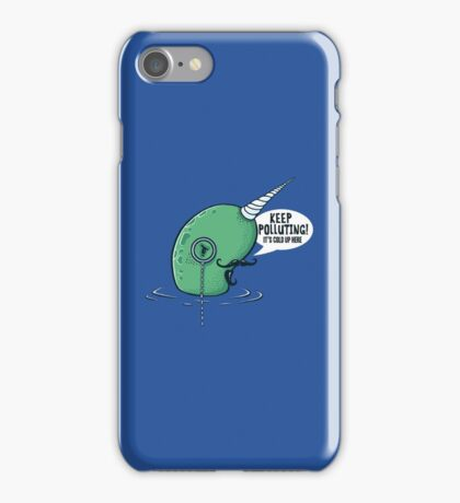 Evil Narwhal Favors Global Warming iPhone Case/Skin