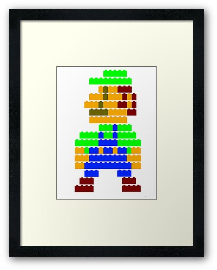 8-bit brick Luigi by McLovely