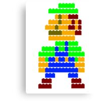 8-bit brick Luigi Canvas Print