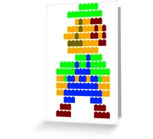 8-bit brick Luigi Greeting Card