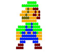 8-bit brick Luigi Photographic Print