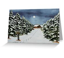 Winter Awe Greeting Card