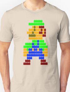 8-bit brick Luigi Unisex T-Shirt
