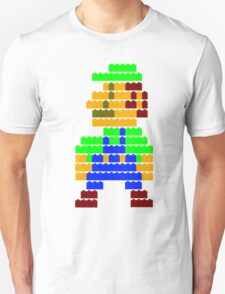 8-bit brick Luigi T-Shirt