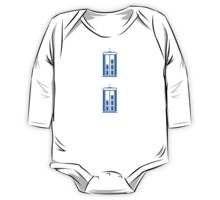 8-Bit Tardis - Doctor Who Shirt One Piece - Long Sleeve