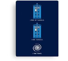 8-Bit Tardis - Doctor Who Shirt Canvas Print