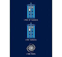 8-Bit Tardis - Doctor Who Shirt Photographic Print