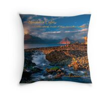 Northern light, Landscapes of the Isle of Skye. BOOK. Throw Pillow