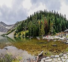 Lake Agnes, at Lake Louise, in the Canadian Rockies by Luke Farmer