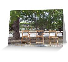chatting chairs Greeting Card